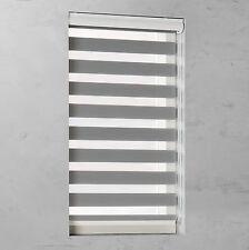 Doppelrollo Fenster Rollo Alu Blende Kettenzugrollo Grau Breite 40 bis 220 cm