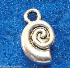 20Pcs. Tibetan Silver 2 Sided Shell Charms Earring Drops Pendants Finding Ot05A