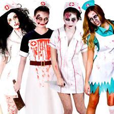 Gorey Zombie Nurse Womens Fancy Dress Undead Halloween Ladies Adults Costume New