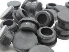 16mm (M16) Rubber Hole Plugs. Black - Black. Panel Plug. Fits All Depths
