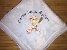 Personalized All Star Baseball Player Baby Blanket Boy Girl Monogrammed