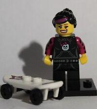 LEGO SERIE 6-Skater Girl figura + regalo gratuito-RARA-VELOCE-BESTPRICE - NUOVO
