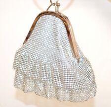 POCHETTE ARGENTO strass donna cristalli borsello clutch bag sposa cerimonia F89
