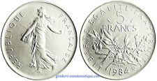 5  FRANCS  SEMEUSE     1984  ,    FLEUR  DE  COIN