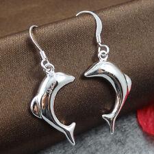 Ohrringe  Delfin Silber plattiert  Geschenk Ohrringe Schmuck Damen E280