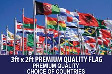 3ft x 2ft Polyester Flag 75denier 2 Eyelets premium quality Choice of Design