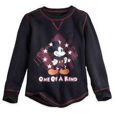 Disney Store mickey Mouse de Manga Larga Térmico Camiseta Infantil Talla 2 3 4