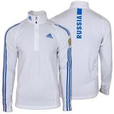 adidas Herren 1/2 Zip Stand Up Shirt Team Russia Longsleeve Skipullover  NEU