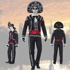 Dia de los Muertos Kostüm Tag der Toten Herrenkostüm Mexikaner Halloween Skelett