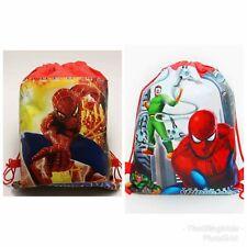 Spiderman Drawstring Kids Bag Shoes PE Swimming Lightweight Superhero Boys Red