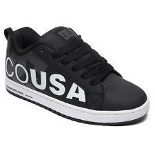 DC Shoes Men's Court Graffik SE Low Top Sneaker Shoes Black White Skateboard