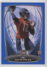 2014 Bowman Chrome Blue Refractor #177 David Fales Chicago Bears Football Card