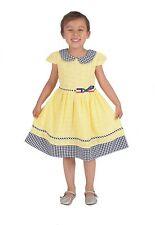 Cinda Algodón flores bordadas Vestido de verano Fucsia Amarillo 4 5 6 7 8 años