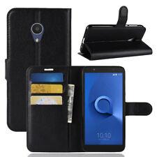 Book Wallet Litch cuir Housse Étui Coque Case Cover Pour Alcatel 1X