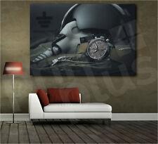 Pilot Military Equipment Helmet Watch Art Canvas Poster Print Home Decor