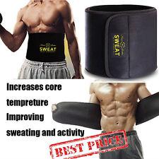 8f3931b8c2 Men Women Sauna Sweat Trimmer Belt Wrap Control Fat Burn Weight Loss Body  Shaper