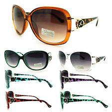 Giselle Womens Diva Rose G Emblem Plastic Butterfly Oversized Fashion Sunglasses
