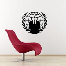 Adesivo parete Cresta ANONIMO-Internet Hacker/online simbolo di protesta