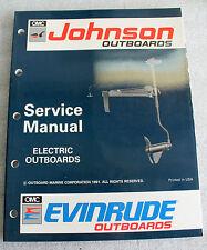1991 JOHNSON EVINRUDE 508140 OUTBOARD SERVICE MANUAL ELECTRIC TROLLING MOTORS