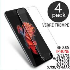 Film verre trempé protection écran 9H pour iPhone 8 7 6S 6 5S SE XR XS MAS LOT