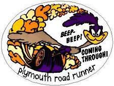 PLYMOUTH ROAD RUNNER VINYL STICKER (A1084)