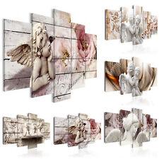 ENGEL ROSE VINTAGE Wandbilder xxl Vlies Leinwand Bilder Blumen b-C-0051-b-m