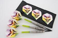 25g 27g 32g Tungsten darts set, Knurled Bomber darts, dart flights, stems, case