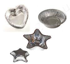 Confezione 24 stampi pirottini forma formina alluminio per dolci cuore stella
