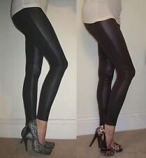 EXTRA LONG Leggings Fabric Panel Leggings Wet Look & Viscose___ 210 gsm