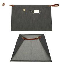 Men's Denim Pocket Solid Half Apron Barber Waiter Chef Cafe Bar Home Workwear