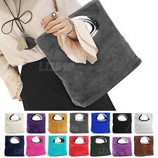 Foldable Velvet Top Handle Clutch Bag Women Handbag Evening Fashion Prom  Wallet