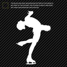 (2x) Figure Skater Sticker Die Cut Decal Self Adhesive skating female girl #2