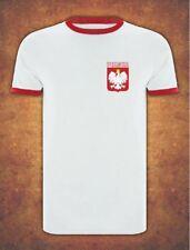 Koszulka Polska  Poland Football Kibic 2019 T-shirt Ringer White