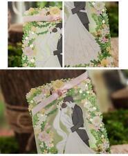 50PCS Candy Box Flower Laser Cut Wedding Party Favors Gift Paper Bag Box Ribbon