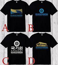 Kukkiwon World Taekwondo Headquarters Korea Men's Black T-Shirt Sizes S to 3XL