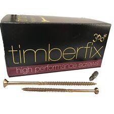 6mm timberfix 360 Premium cortador hilo oro Tornillos Madera Pozi Drive corona checoslovaca 12g