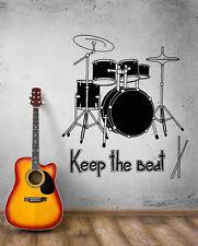 Wall Decal Music Art Rock Drum Rhythm Сoncert Beat Vinyl Stickers (ed008)