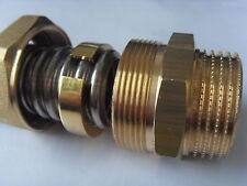 Metallisch dichtende schnell Verschraubung für Wellrohr Edelstahlwellrohr DN20