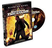 NATIONAL TREASURE - Nicholas Cage, Jon Voight, Harvey Keitel, Sean Bean (DVD)