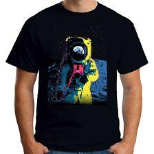 Velocitee Mens T-Shirt Psychedelic Astronaut Spaceman Rocketman A22316