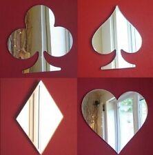 Heart, Diamond, Spade & Diamond Cards Mirrors (Acrylic Mirror, Several Sizes)