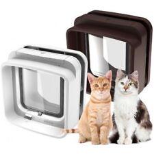 Chatière Porte Fermeture Magnétique pour Chat Chiot Animaux Domestiques