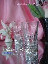 Swarovski Crystal Brilliant Wedding Toasting Shot Glasses Mr Mrs Bride Groom