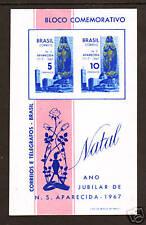 Brazil Sc 1060a Mnh. 1967 Christmas S/S, Vf