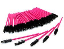 Black Pink Eyelash Mascara Wands Brushes Disposable Eye Lash Spoolers Extension
