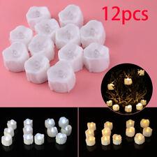 12pcs LED Tea Light Candles Battery Flameless Tealights Wedding Decoration