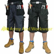 Para Hombre trabajo Shorts Tuff Multi Bolsillo comercio Extreme Pro Pantalones Triple Costura De Carga