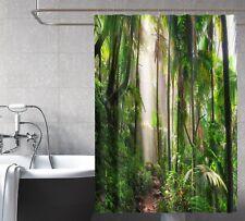 3D Tropical Forest 467 Shower Curtain Waterproof Fiber Bathroom Windows Toilet
