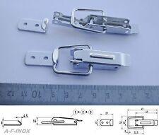 Kistenverschluss Kappenschloss mit Haken Aluminium Länge 40mm Hebelverschluss