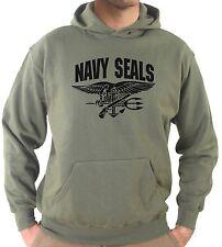Felpa cappuccio KJ1817 Stemma Militare Bassa Visibilità Navy Seals US Army